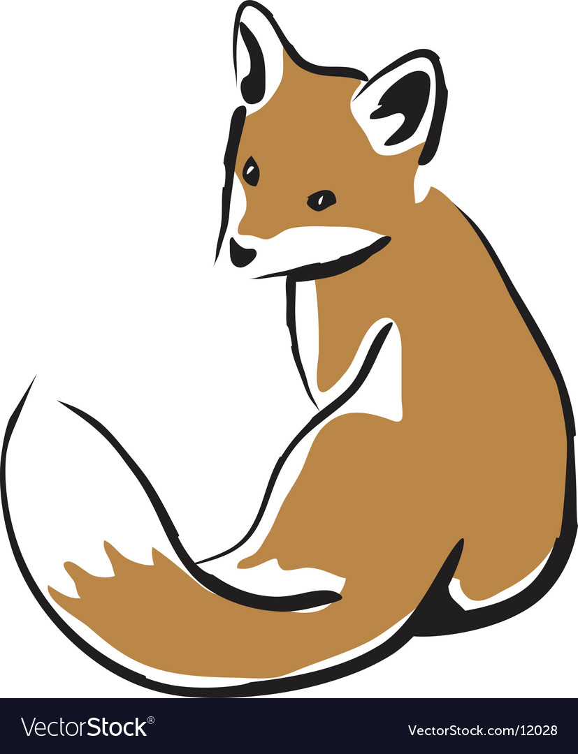Baby fox vector image