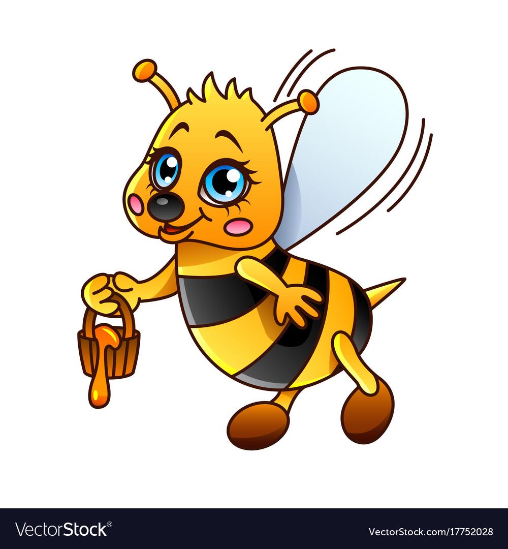 Cartoon bee isolated
