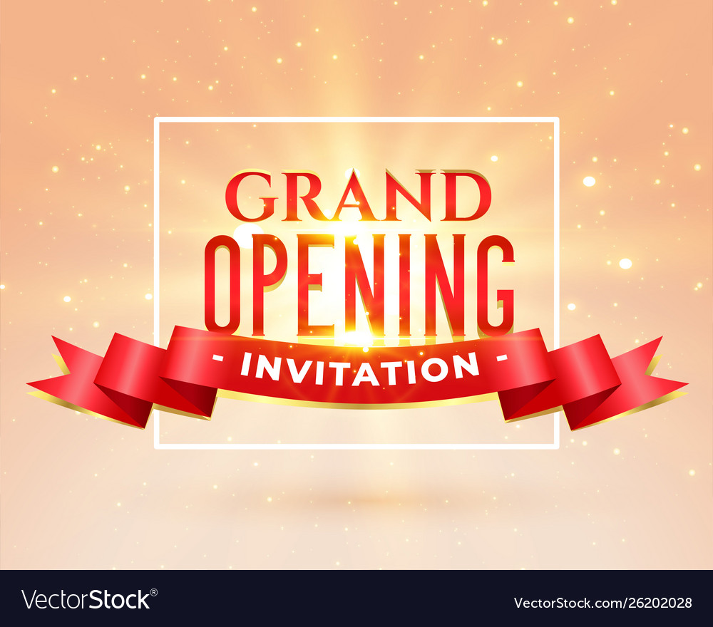 Grand Opening Party Invitation Card Design