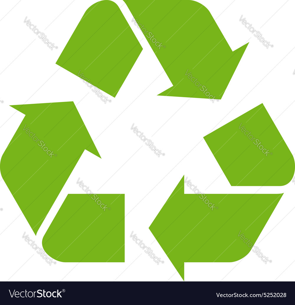 Green Recycle Symbol Royalty Free Vector Image