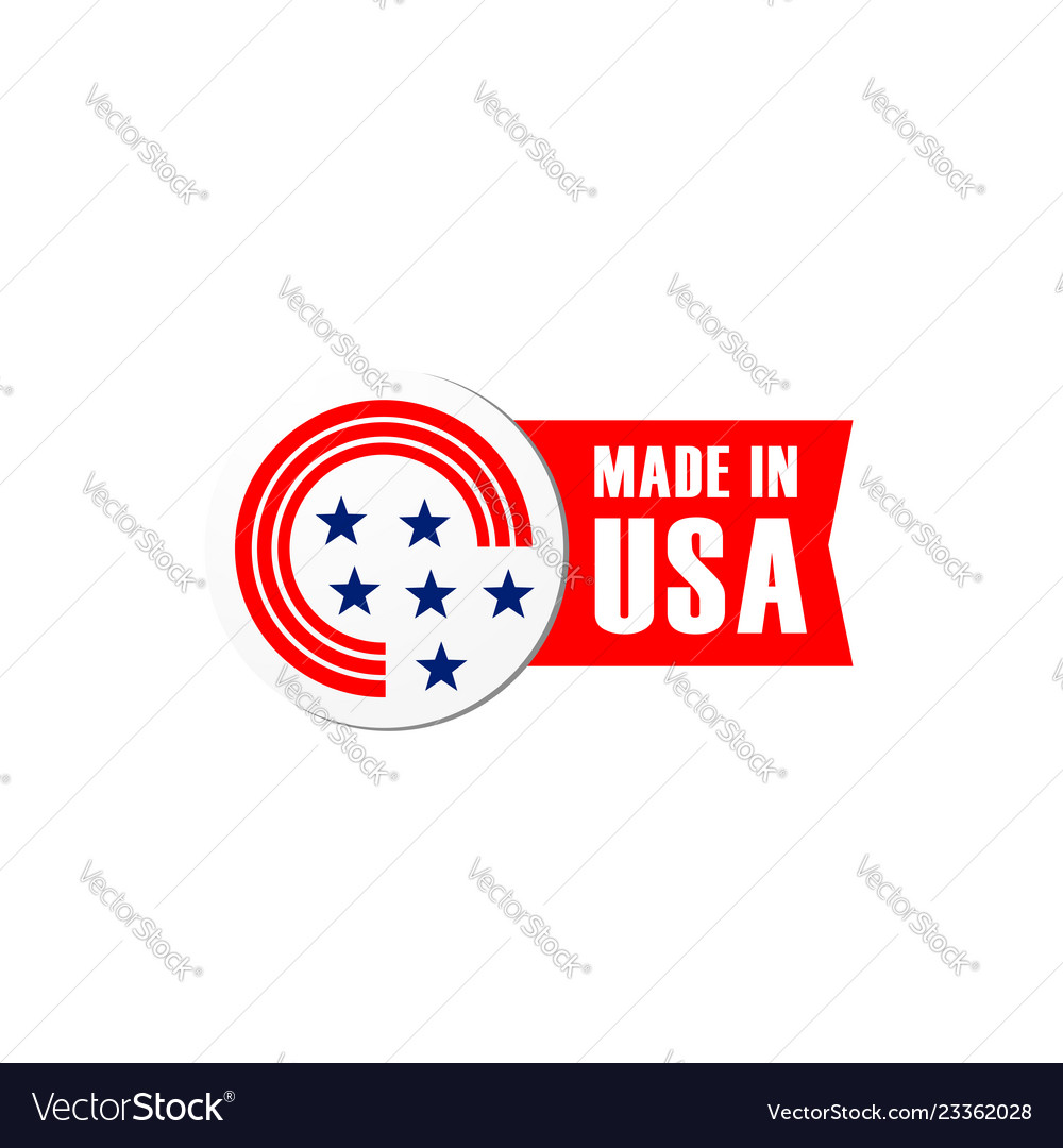 Icon bagde made in usa flag