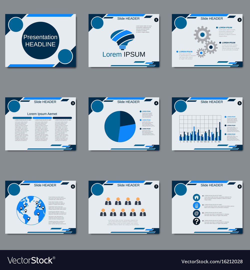 Professional business presentation template vector image for Buy professional powerpoint templates