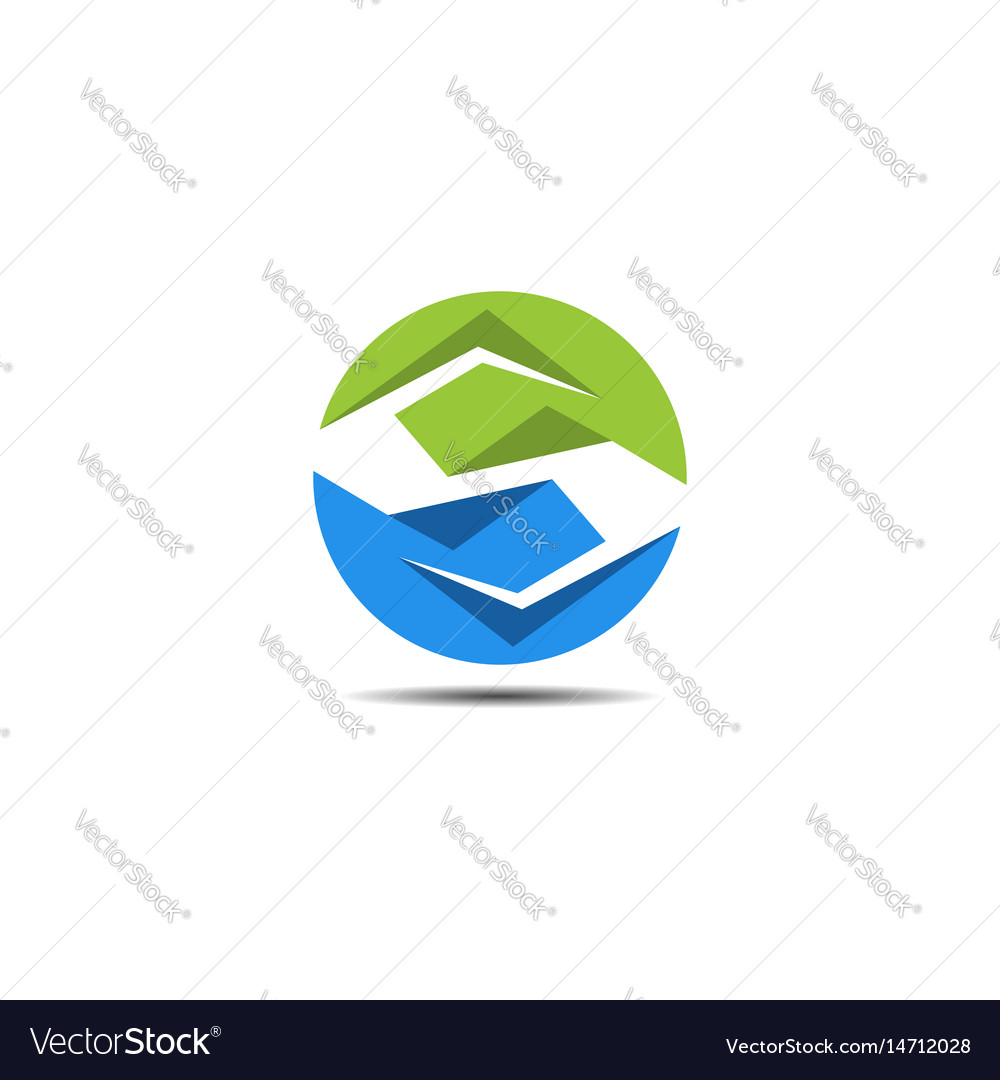 S circle abstract logo