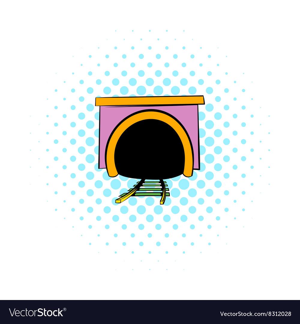 Tunnel icon comics style