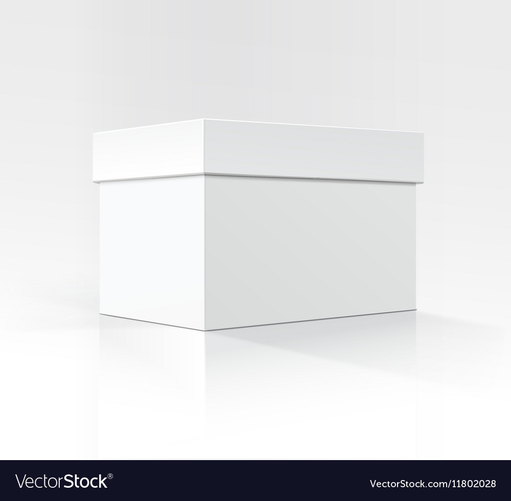 White Horizontal box in Perspective on Background vector image