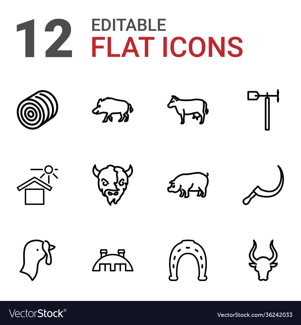 12 farm icons