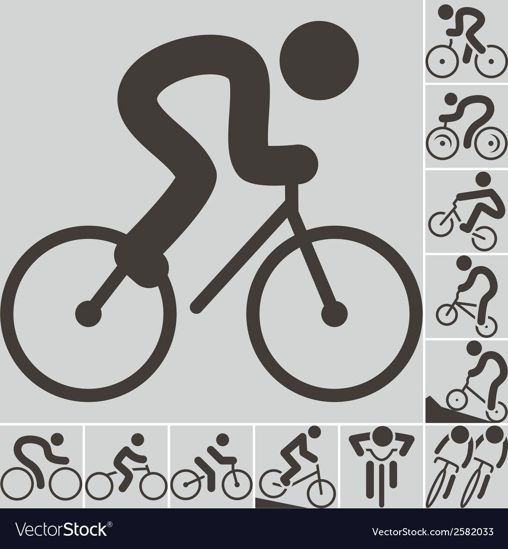 2292 set of cycling icons