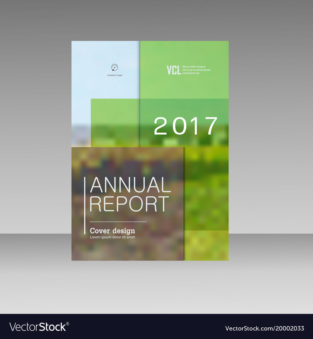 Cover design for annual report catalog or