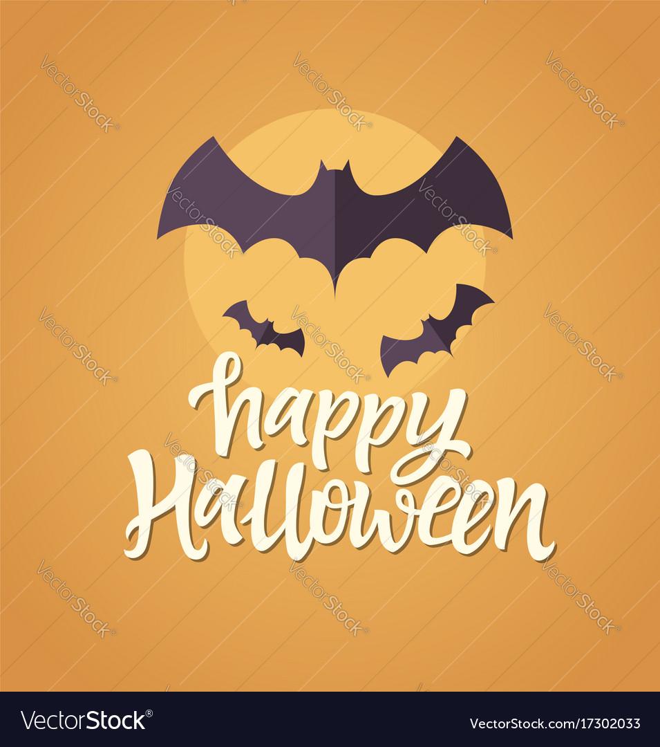 Happy halloween - celebration card with