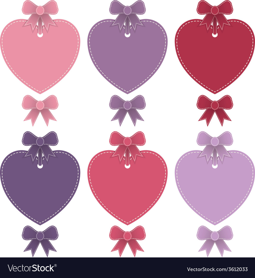 Heart shaped labels vector image