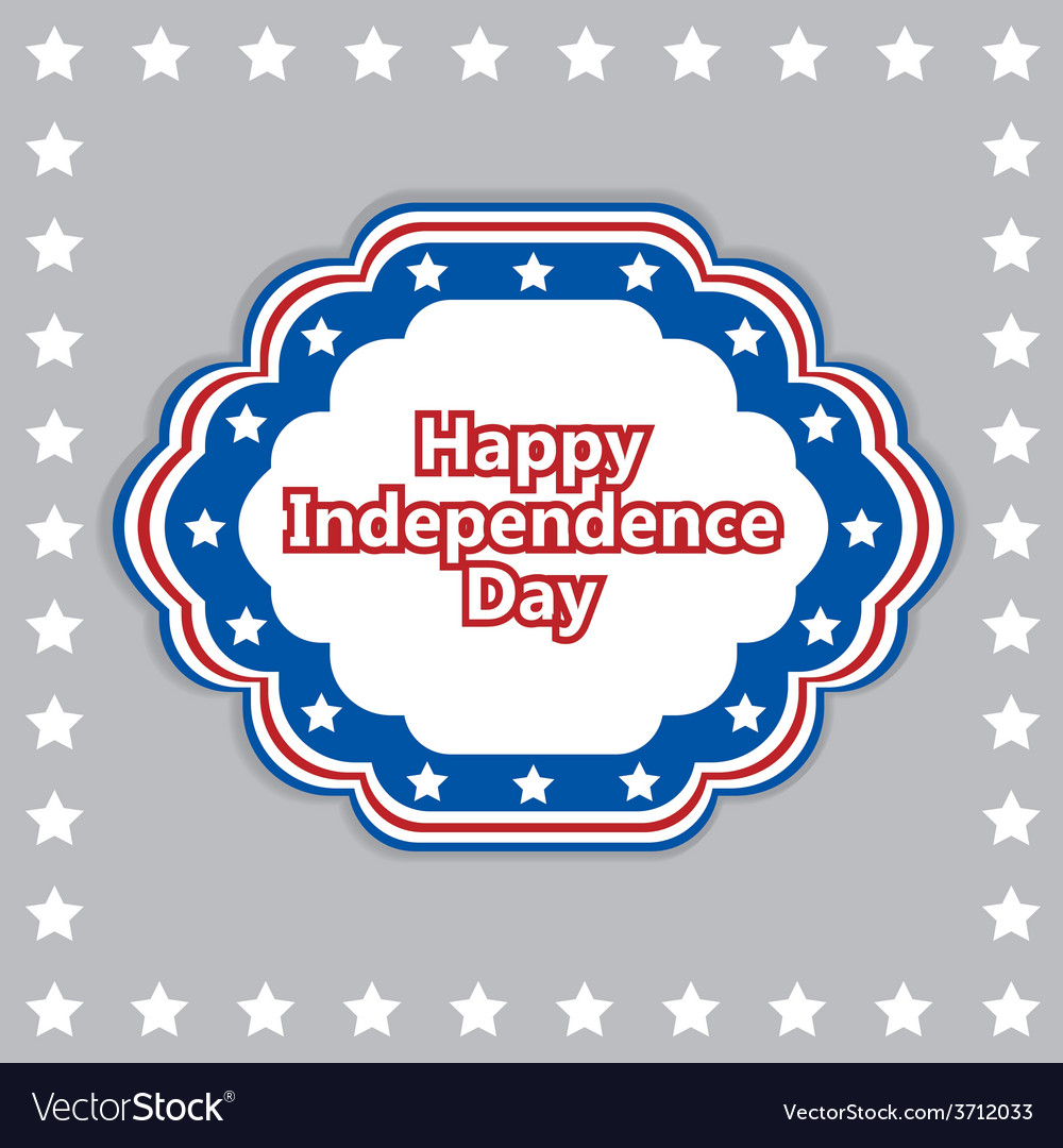 Independence day badge poster
