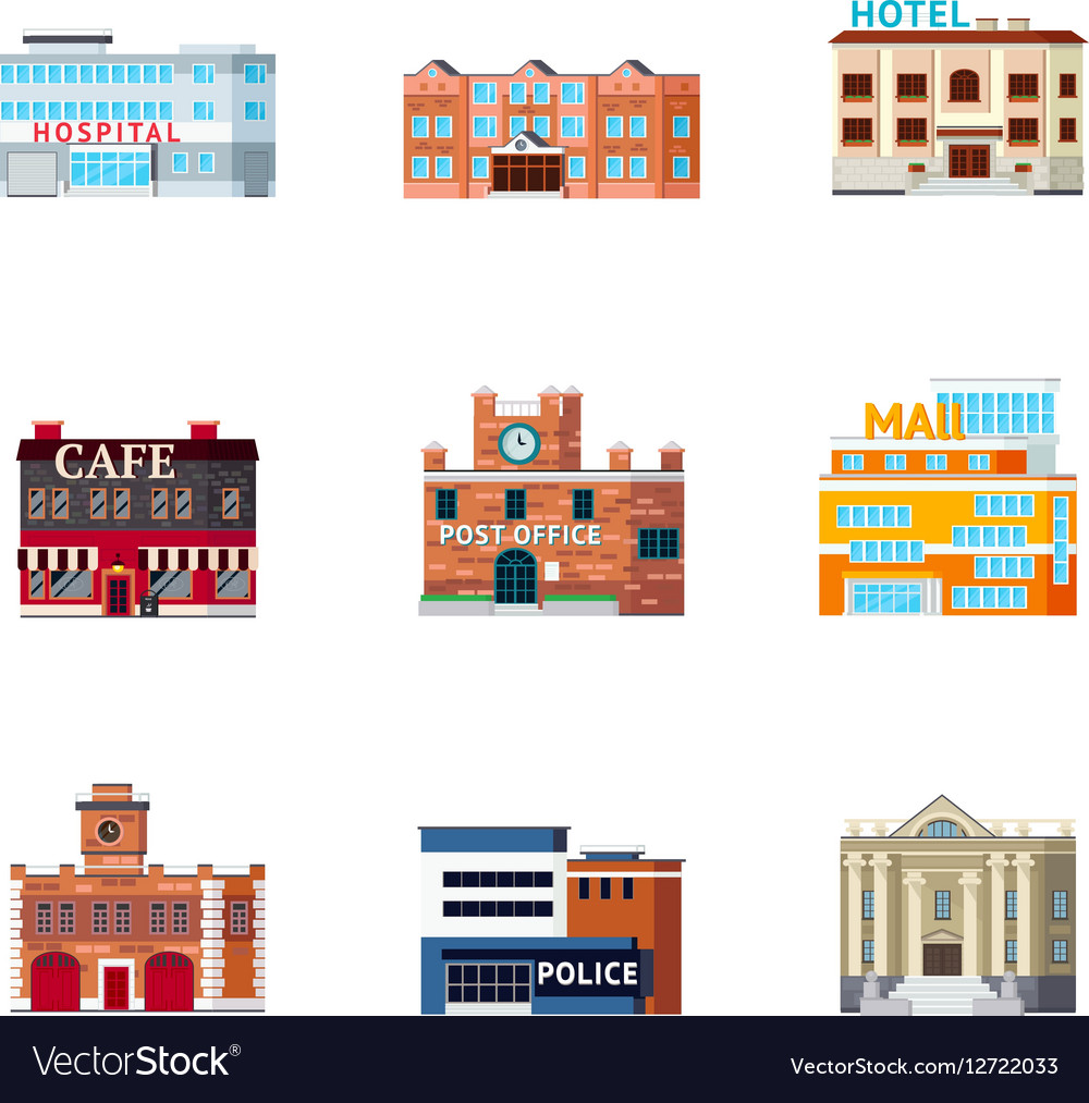 Urban Buildings Icon Set