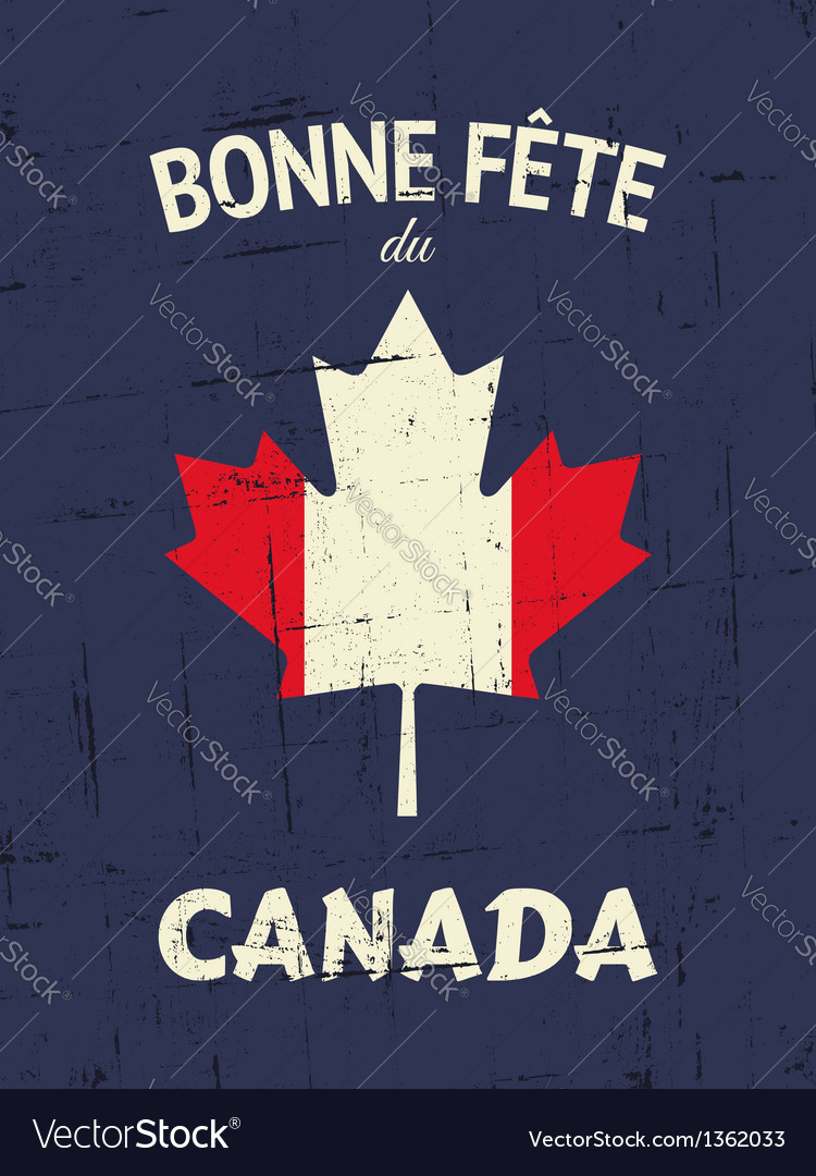 Vintage Canada Day Poster