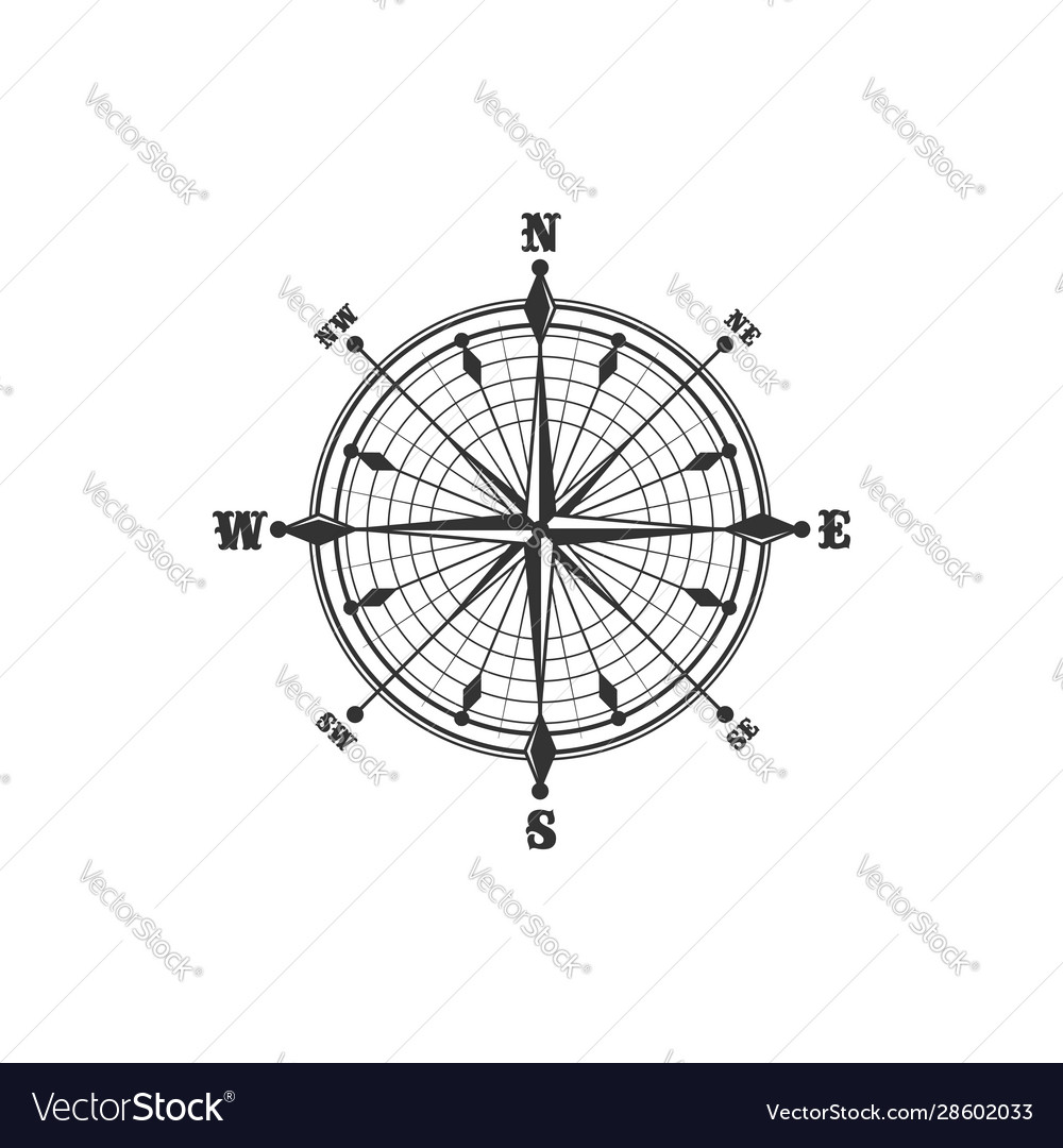 Vintage compass symbol and sign