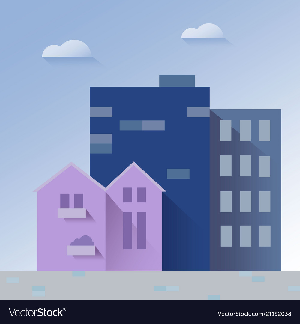 Beautiful Cityscape Paper Art Style Royalty Free Vector