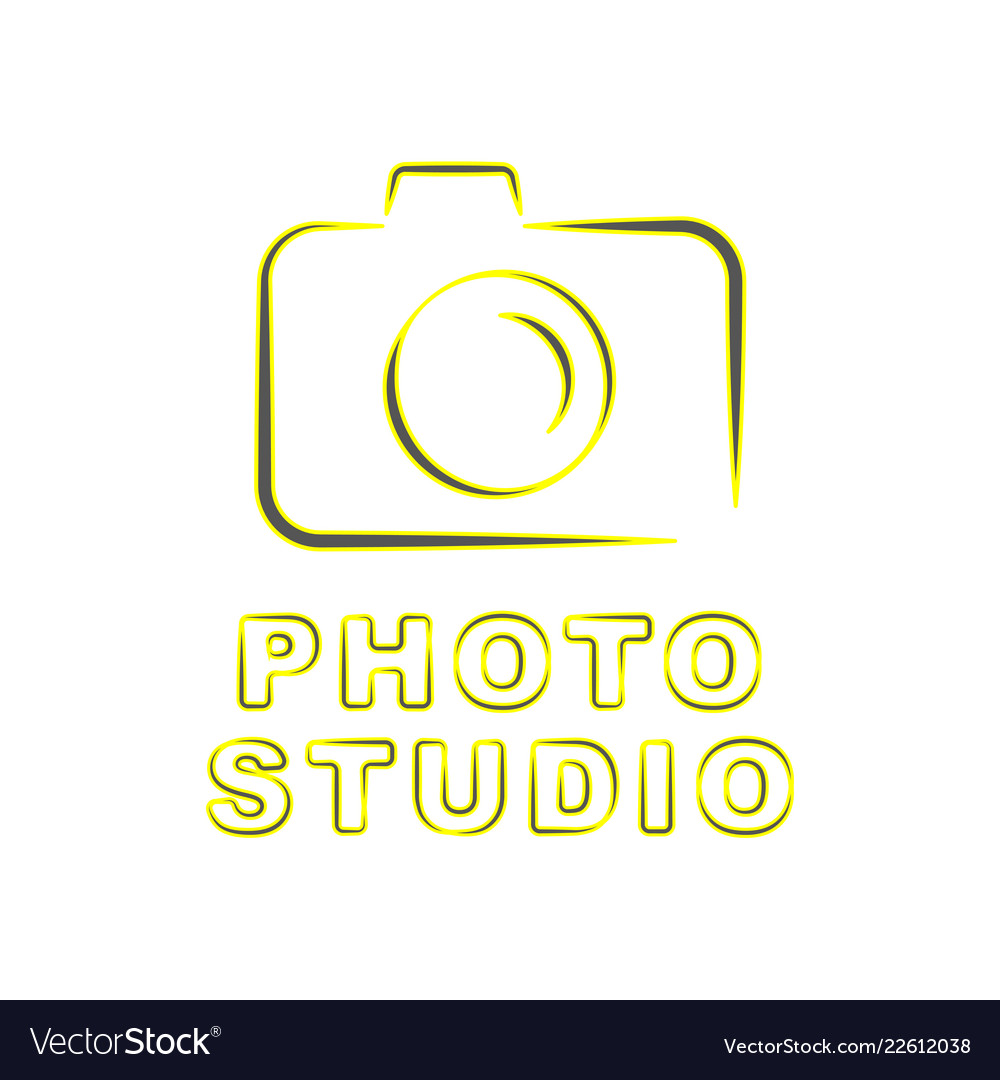 Camera icon flat photo isolated modern