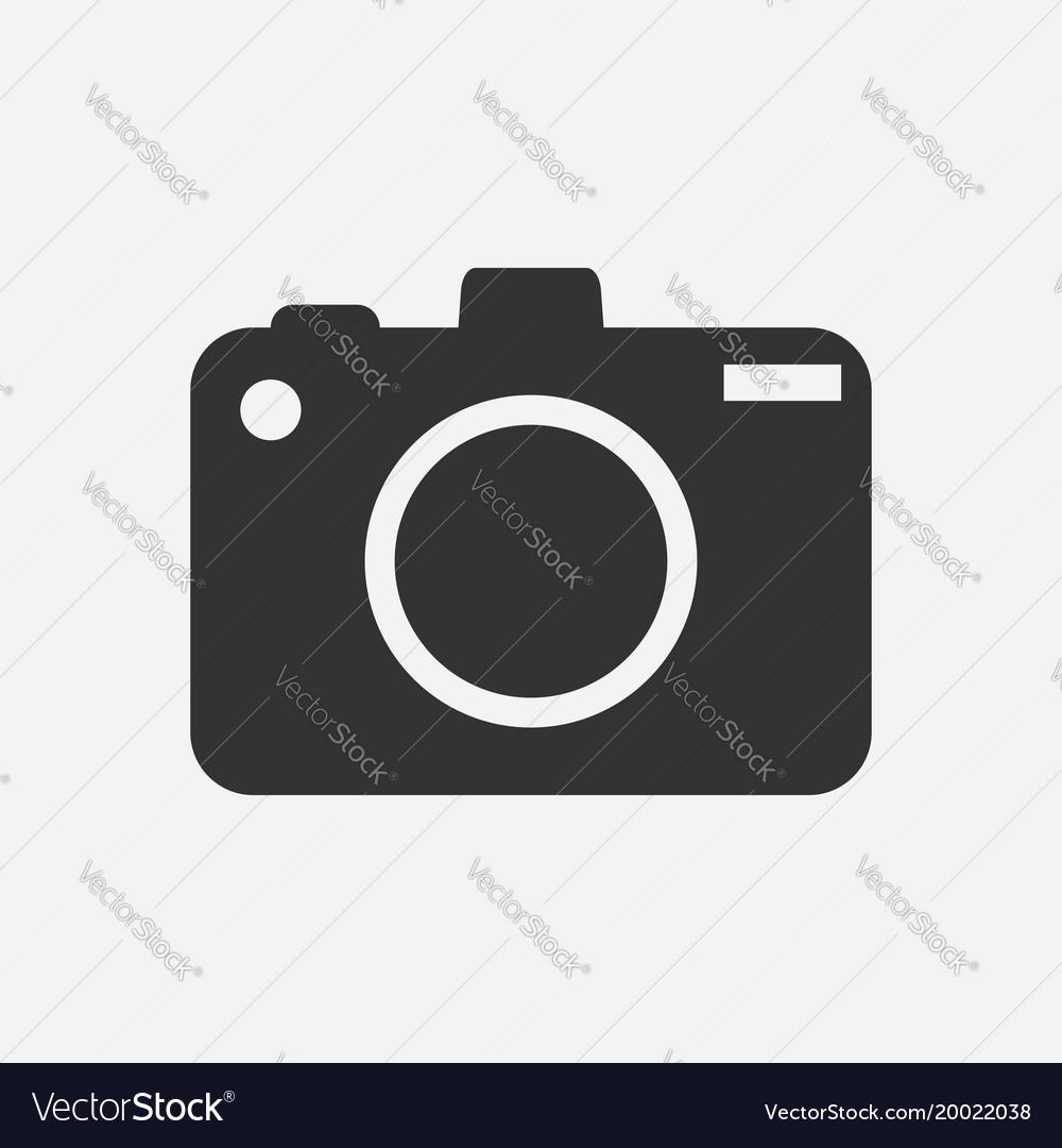 Camera icon on white background flat