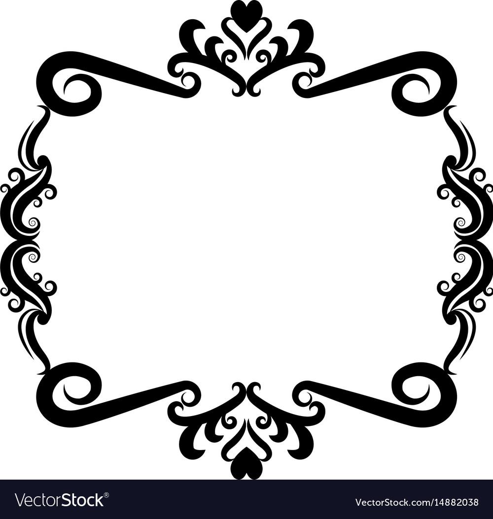 Decorative frame floral romantic border cute image