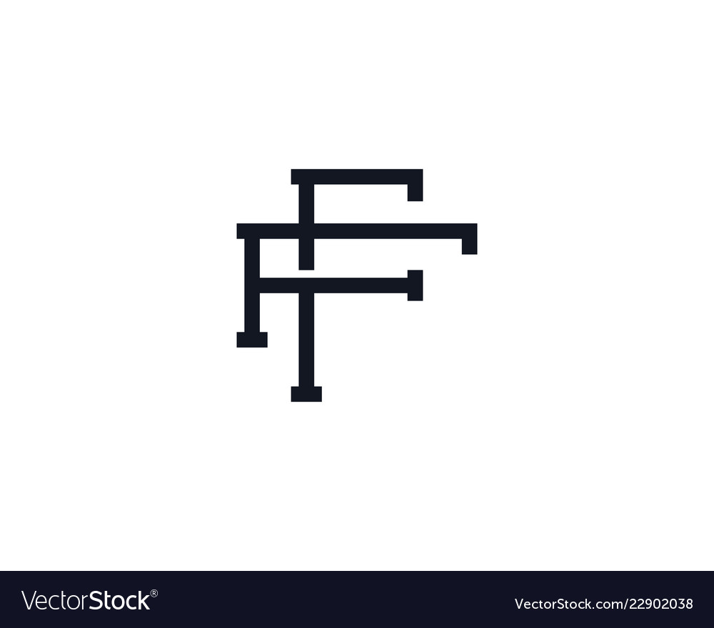 F monogram letter logo icon design