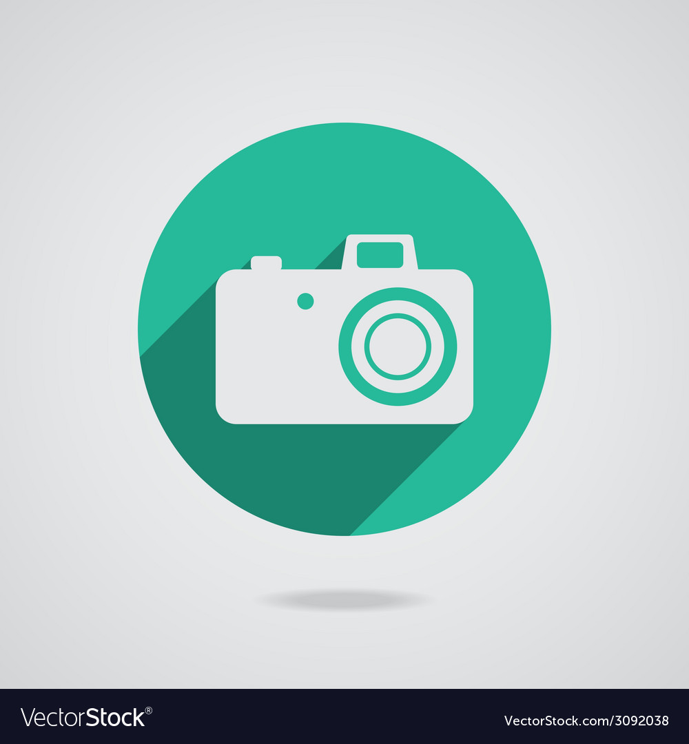 Hipster white photo camera icon element