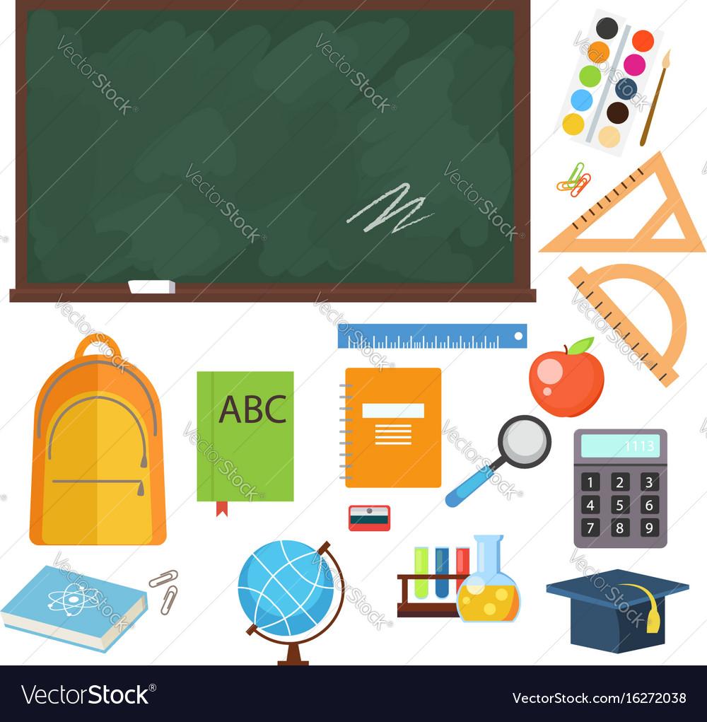 Set from school objects