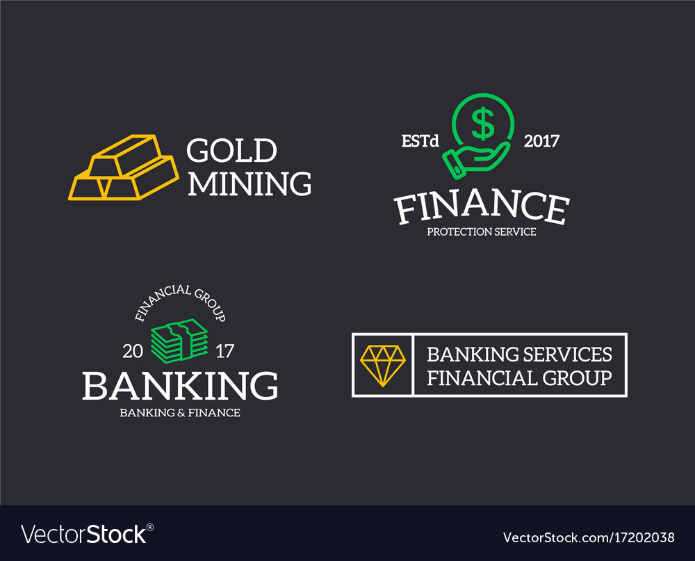Retro Bank Design.Set Of Retro Vintage Money And Bank Cash Diamond Vector Image