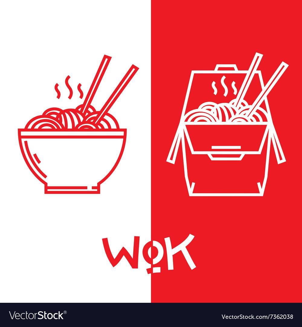 Wok noodles graphic