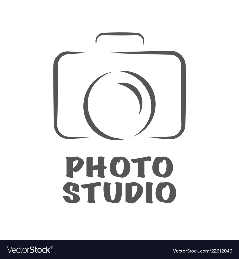 Camera icon flat photo camera isolated