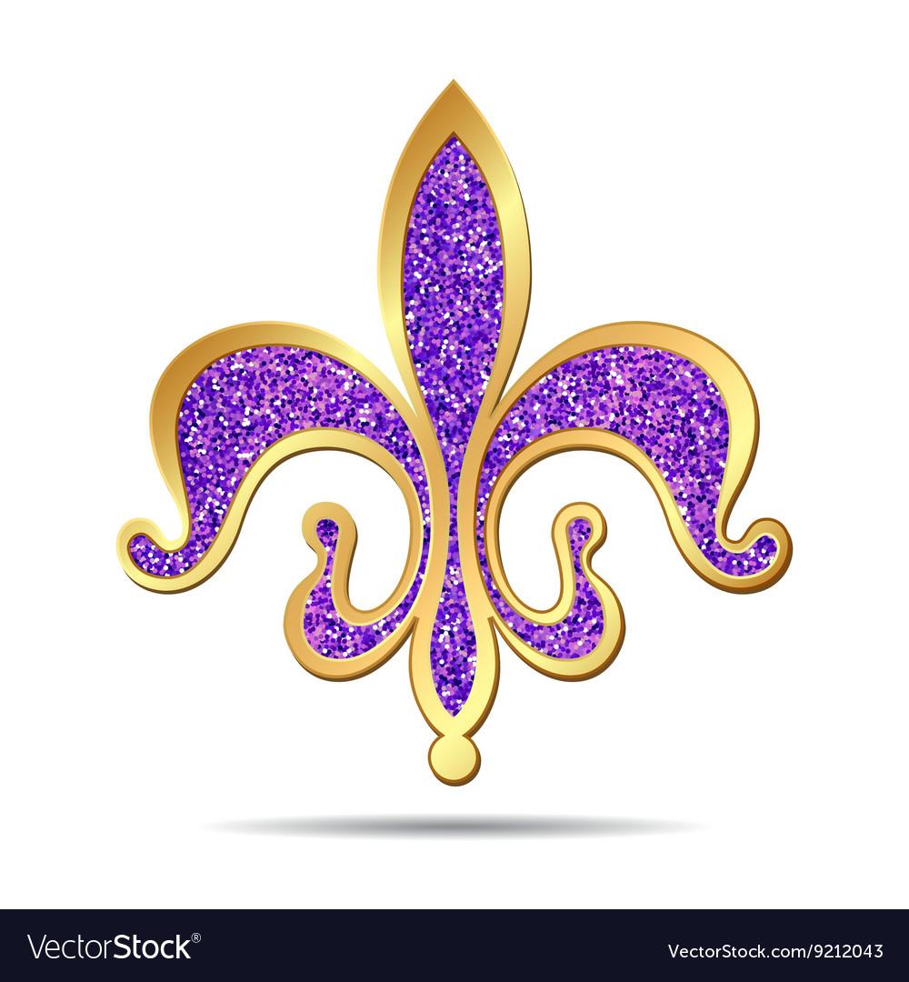 Golden and purple fleur-de-lis