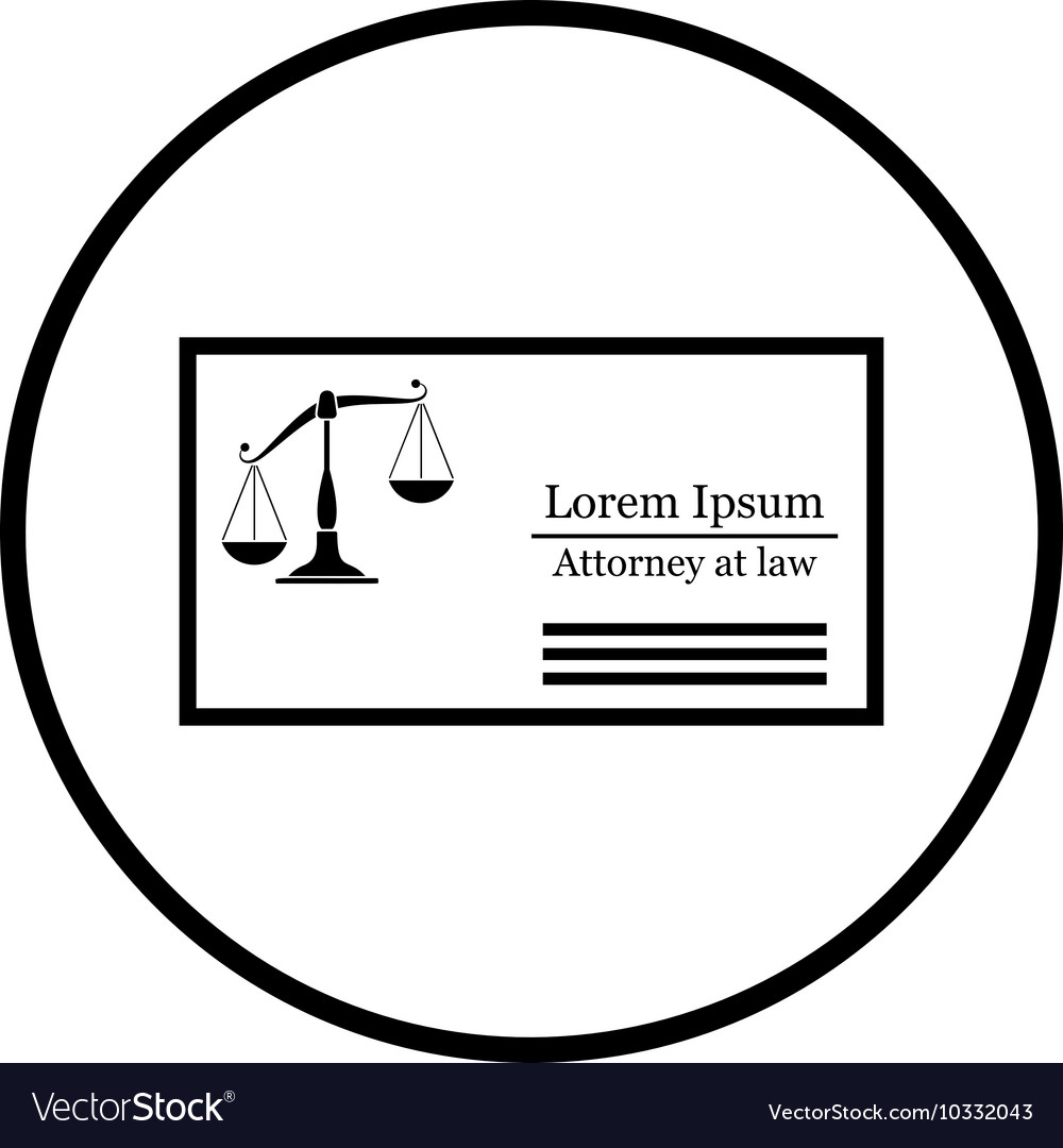 Lawyer business card icon royalty free vector image lawyer business card icon vector image reheart Gallery