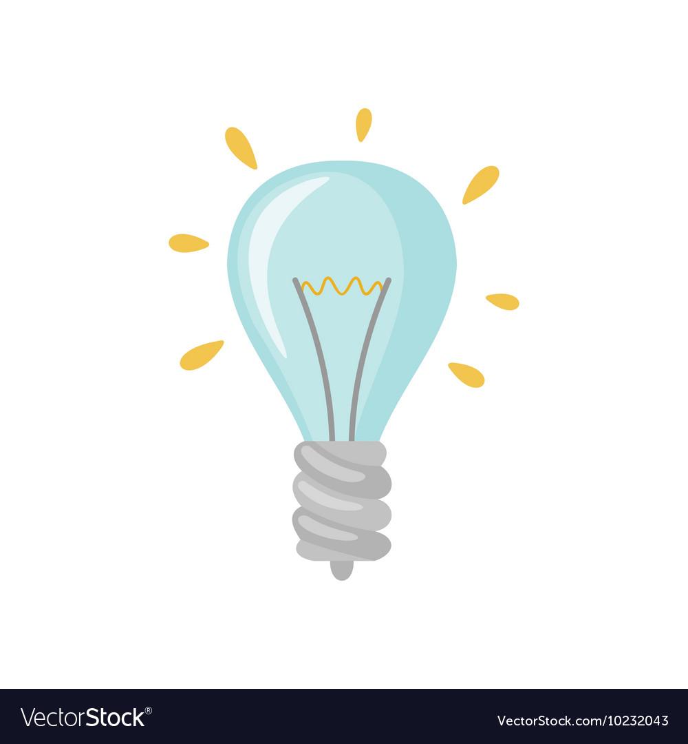 Light bulb icon in falt style