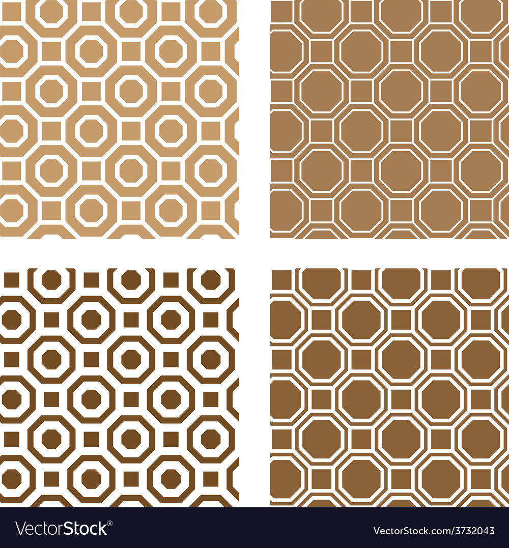 Line octagon tile seamless background