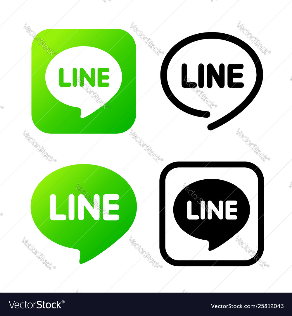 Line sign green chat symbol web icon comments
