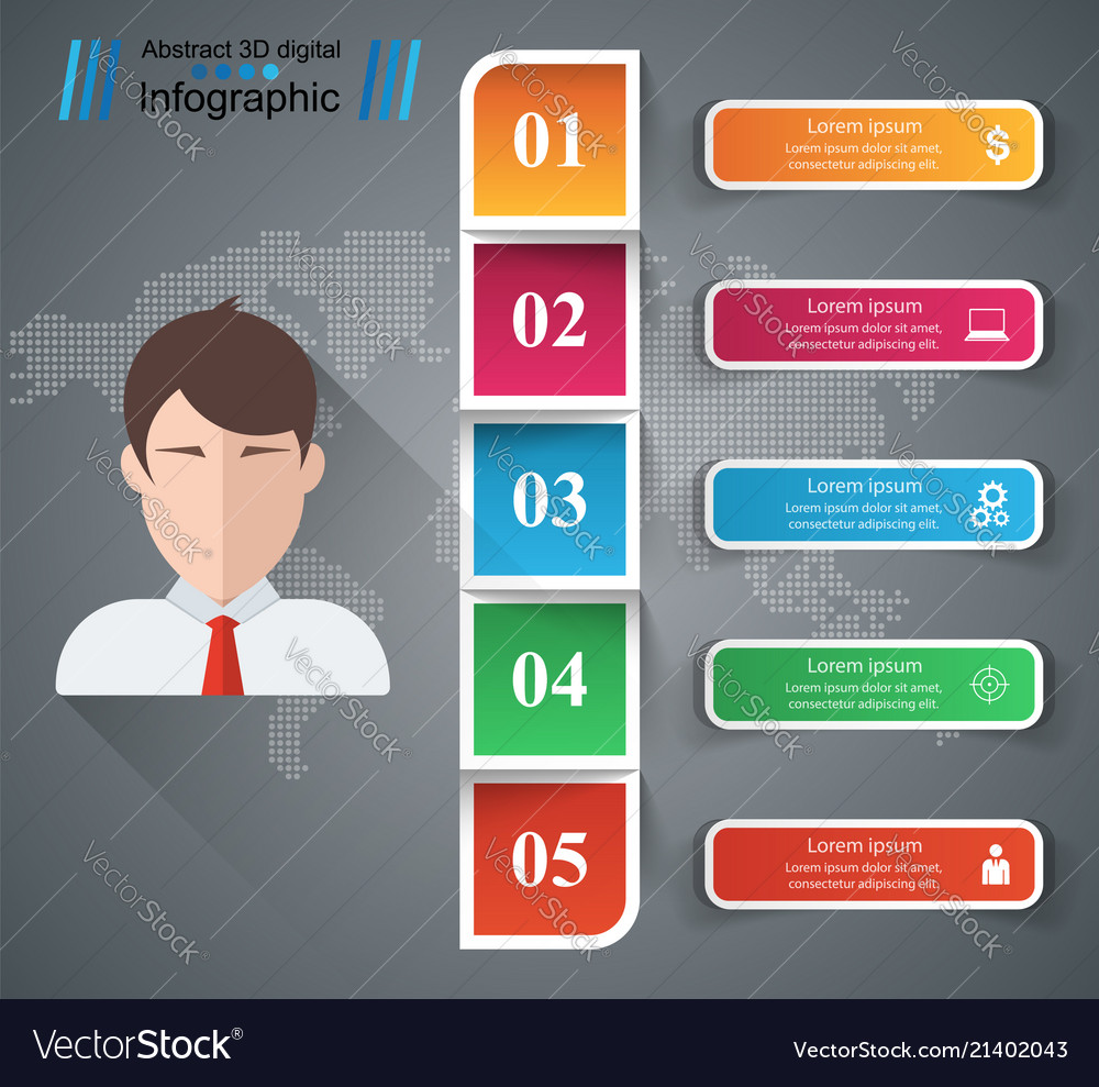 People icon business infographics
