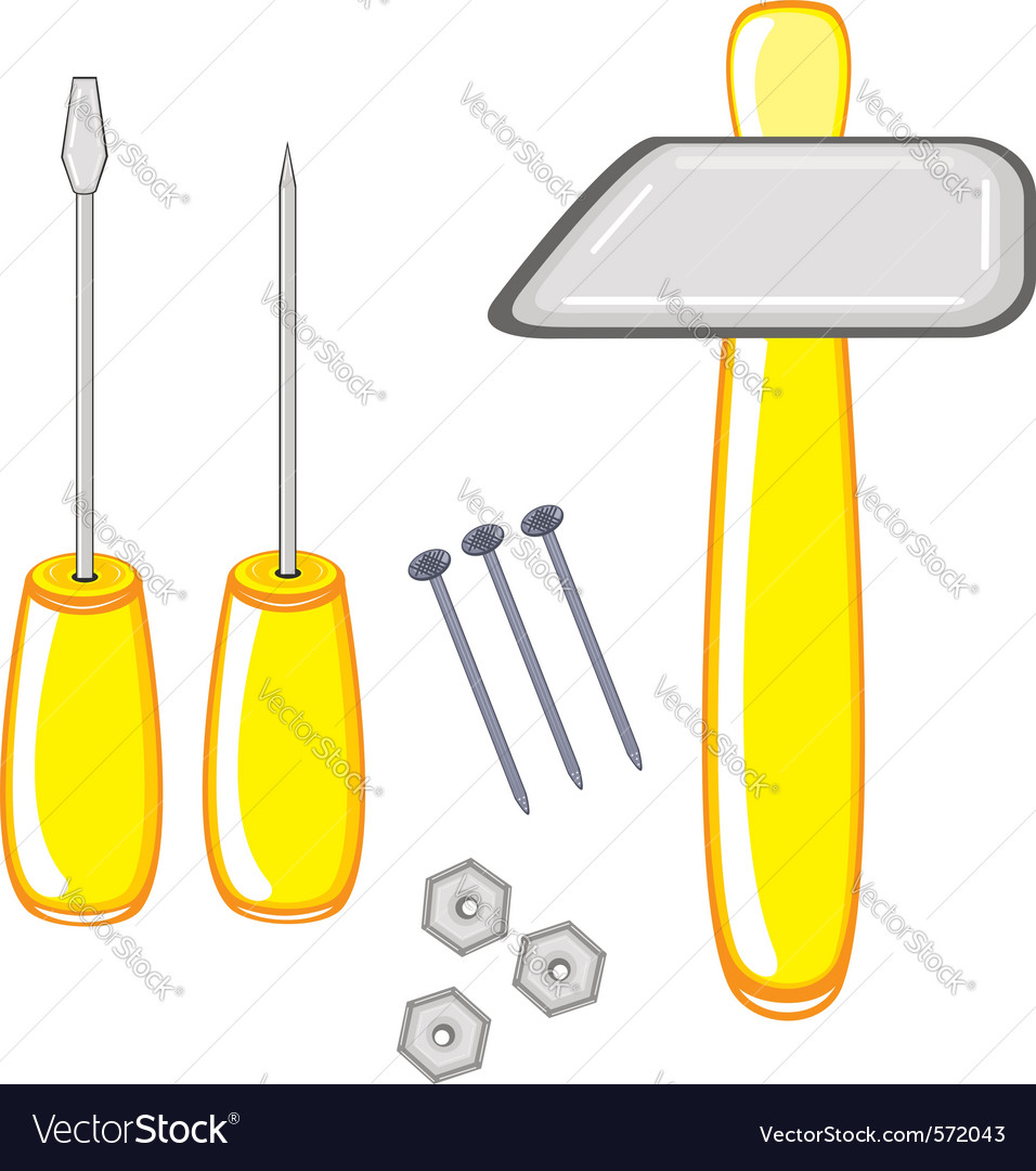 Repair tools on white background