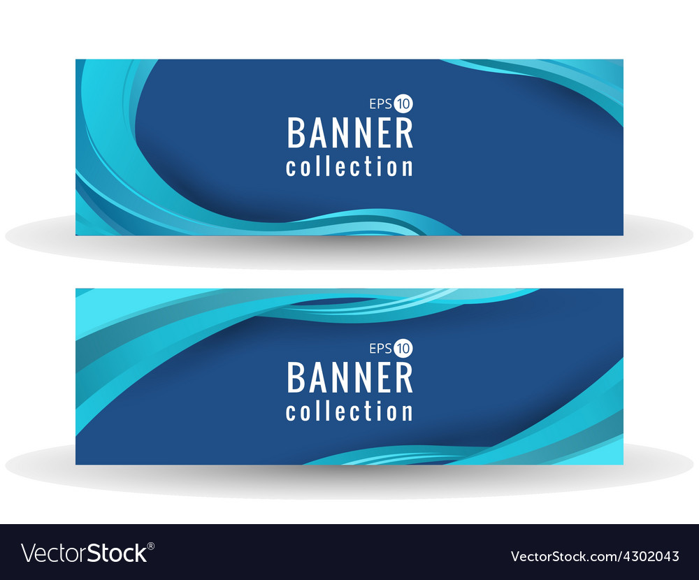 Site wave abstract banner