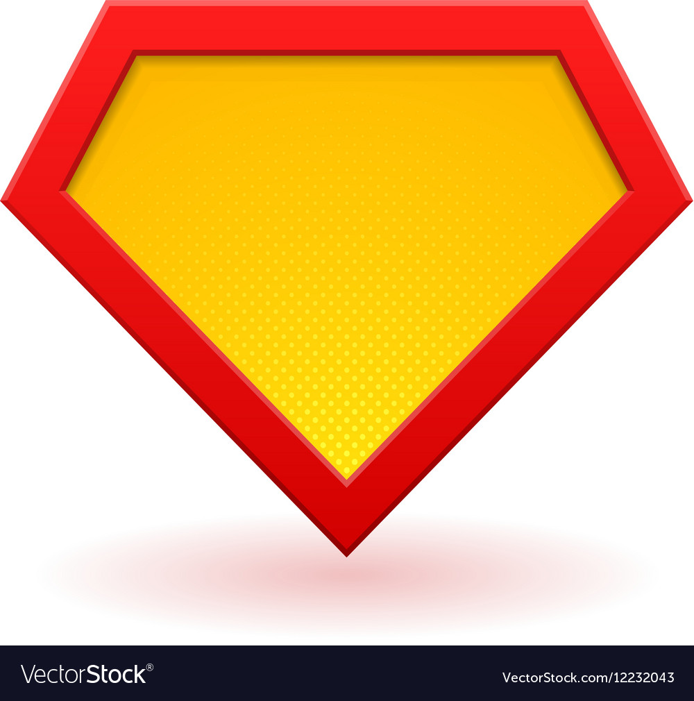 superhero logo template royalty free vector image