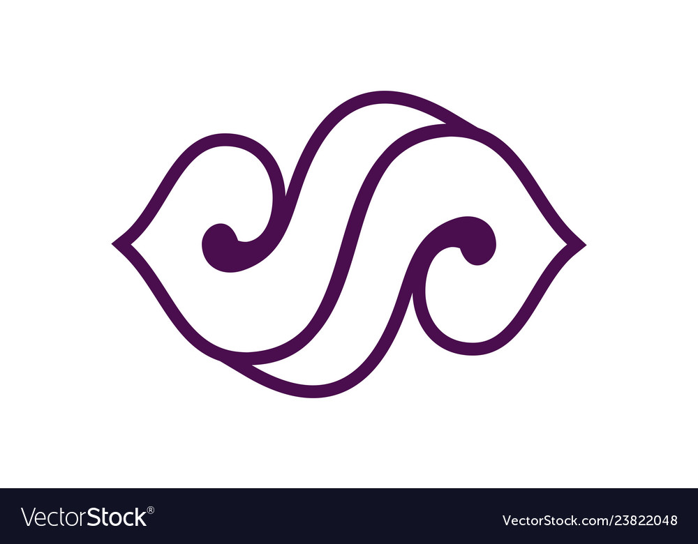 Abstract letter s logo icon