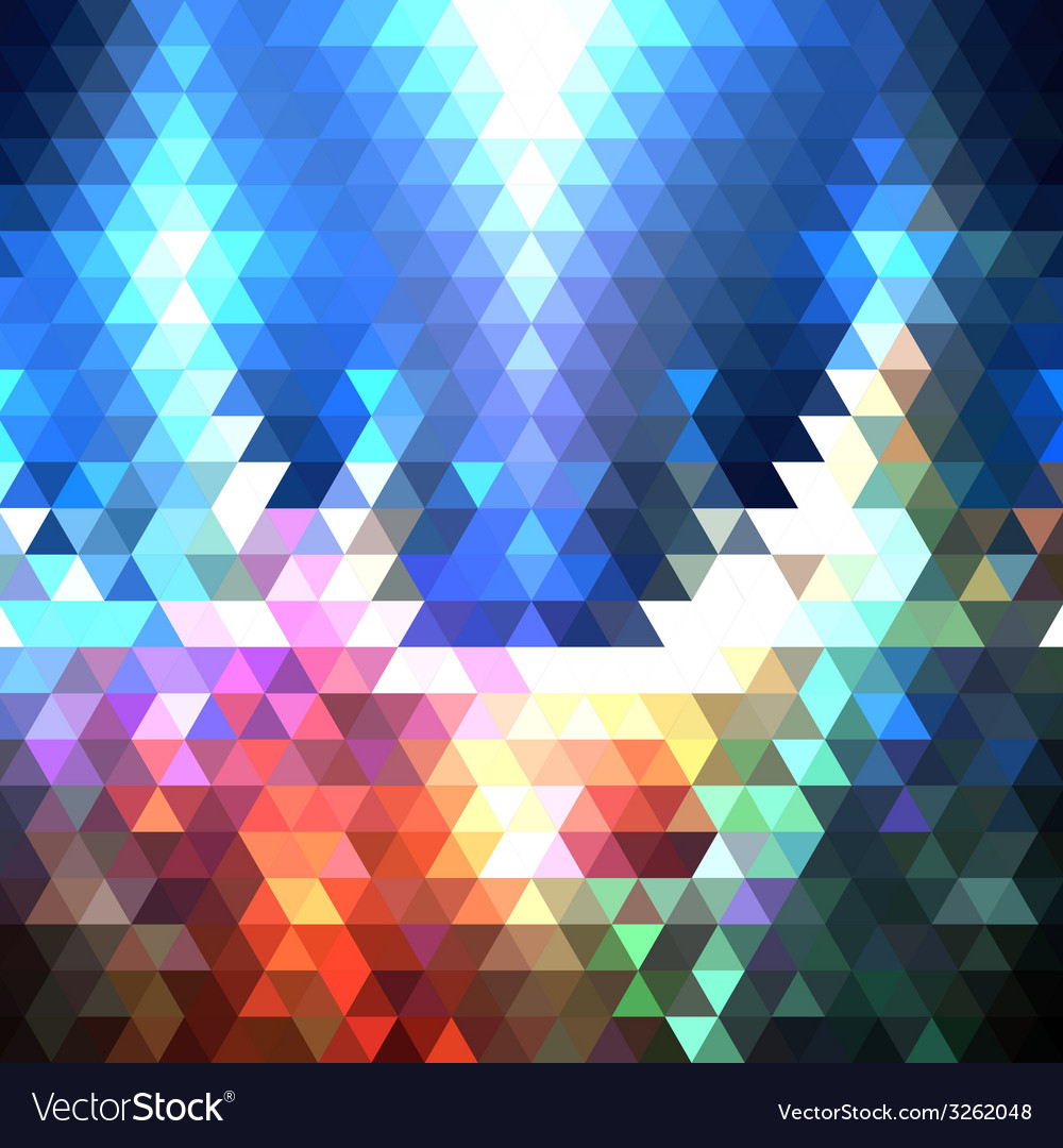 Colorful geometric background abstract triangle