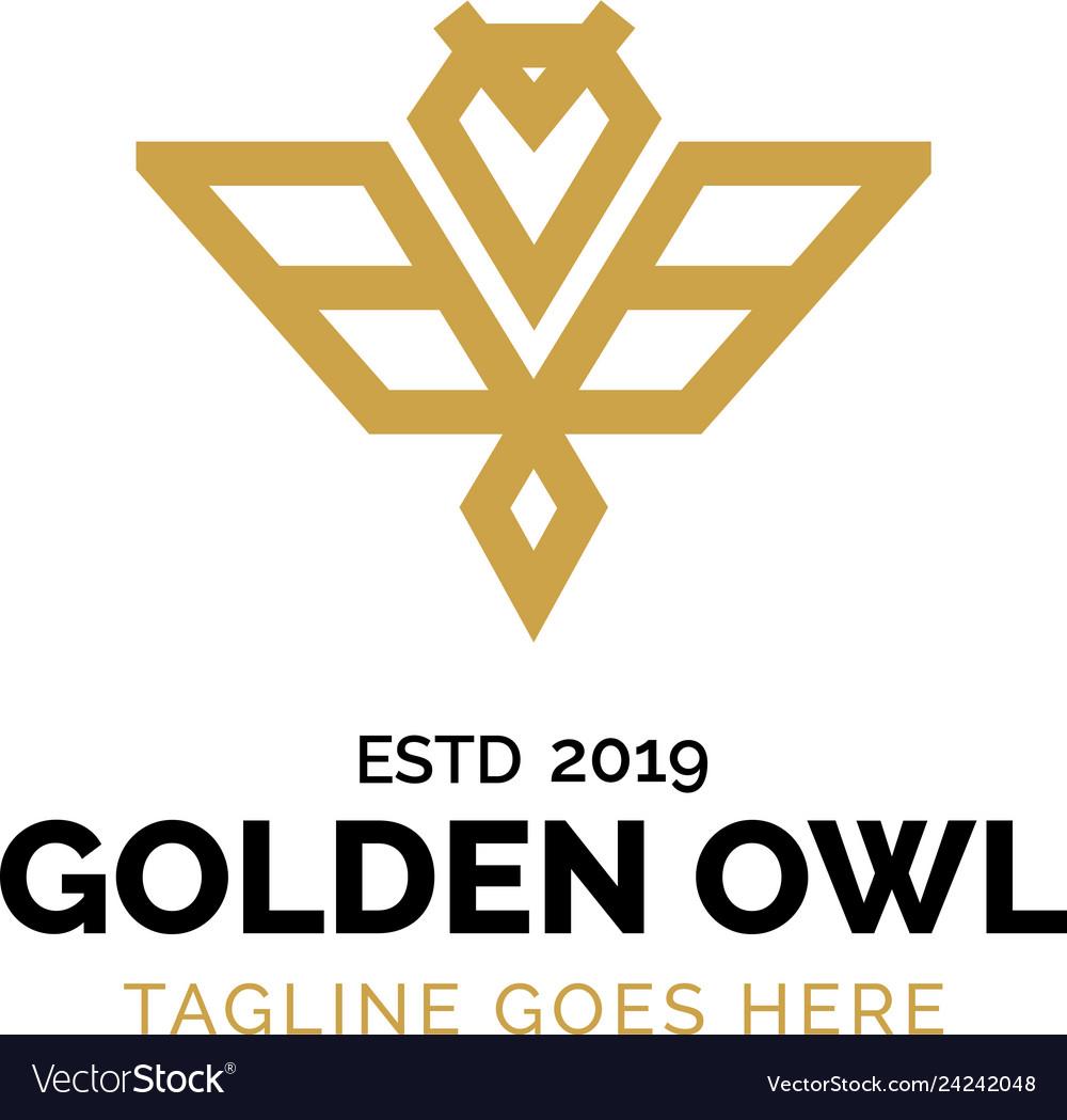 Golden owl logo design inspiration