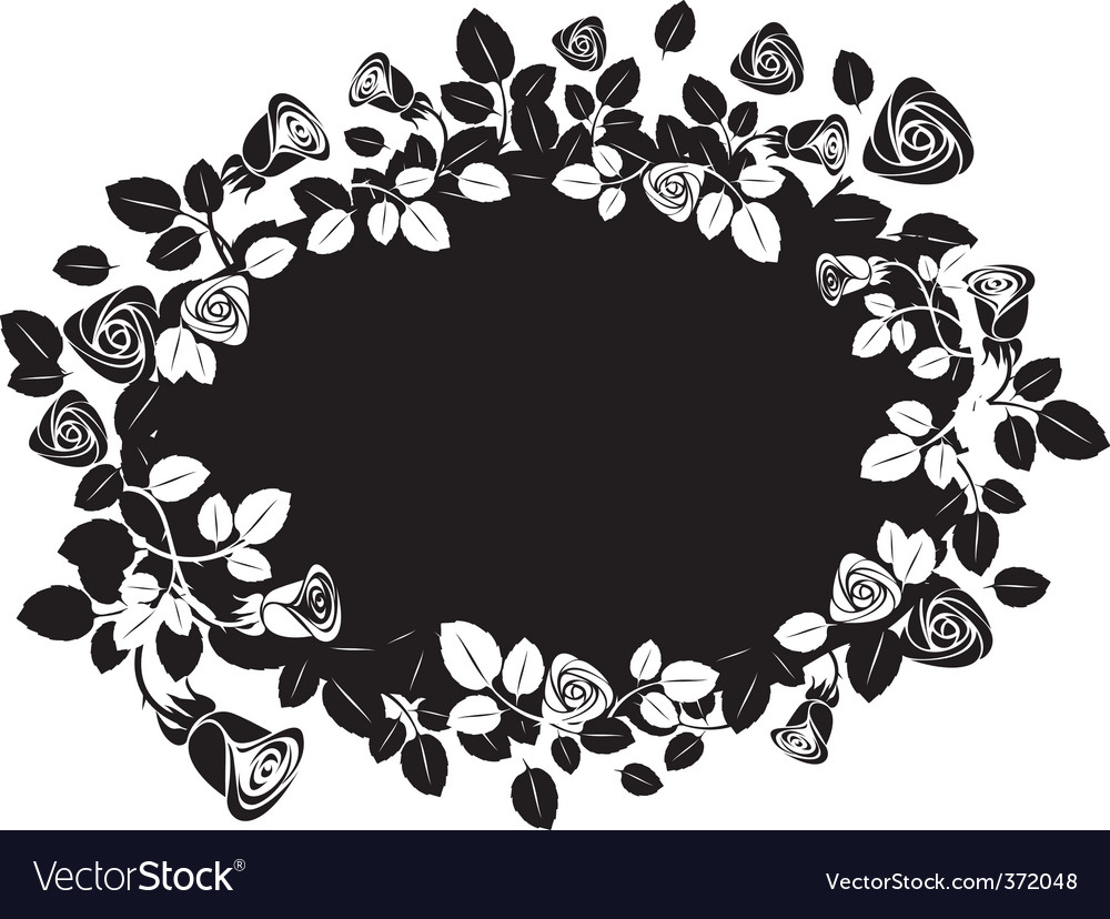 Greeting floral rose card vector image
