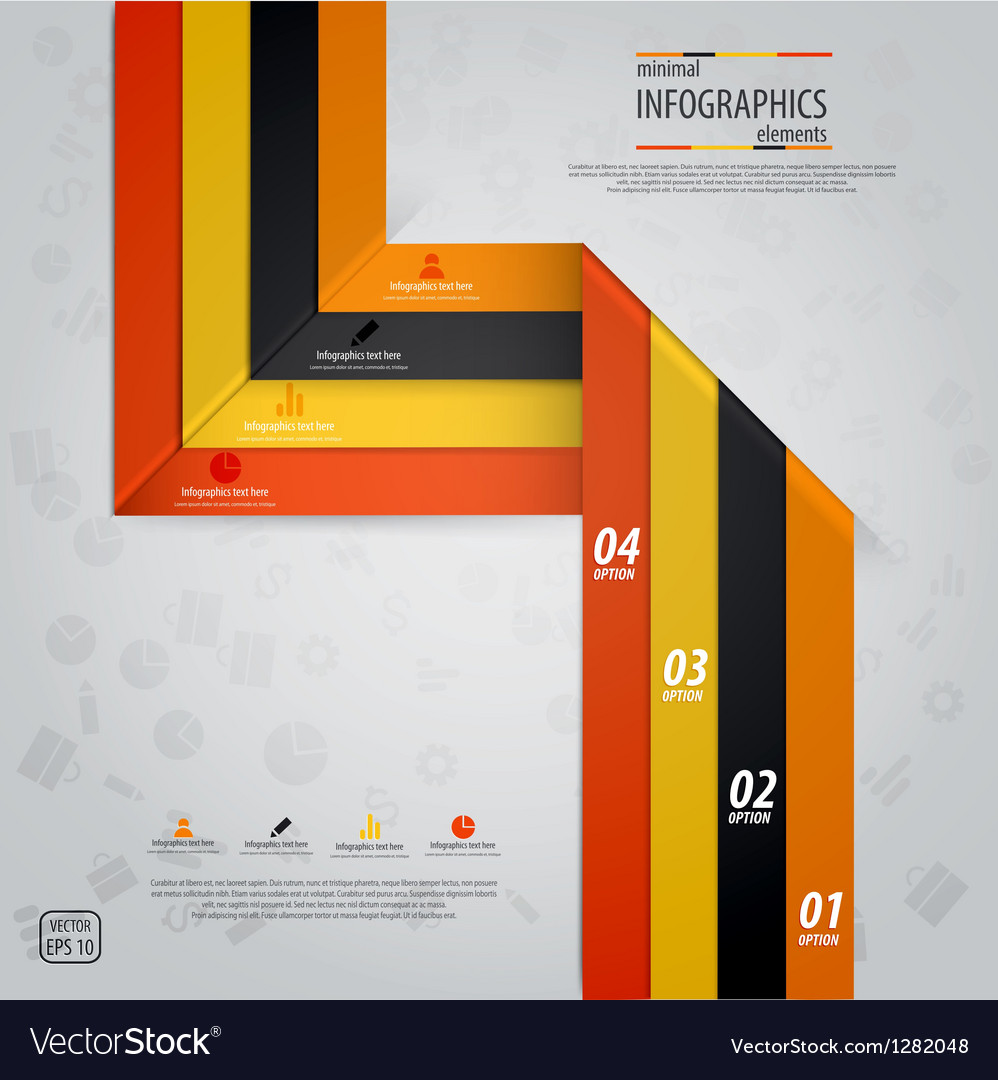 Line infographics 5 vector image