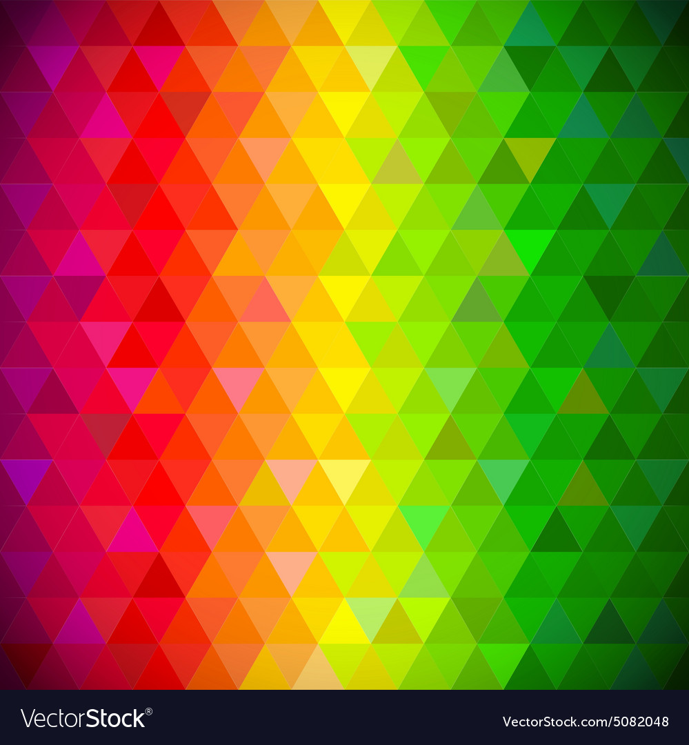 Multicolored triangles pattern background