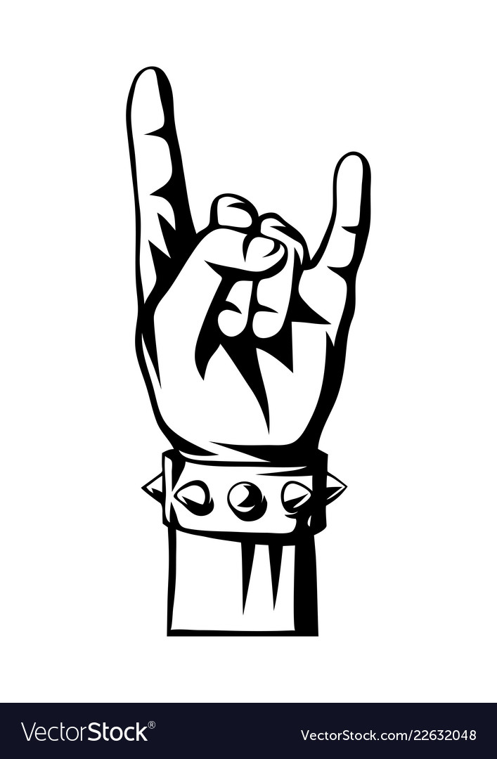 Rock and roll or heavy metal hand sign