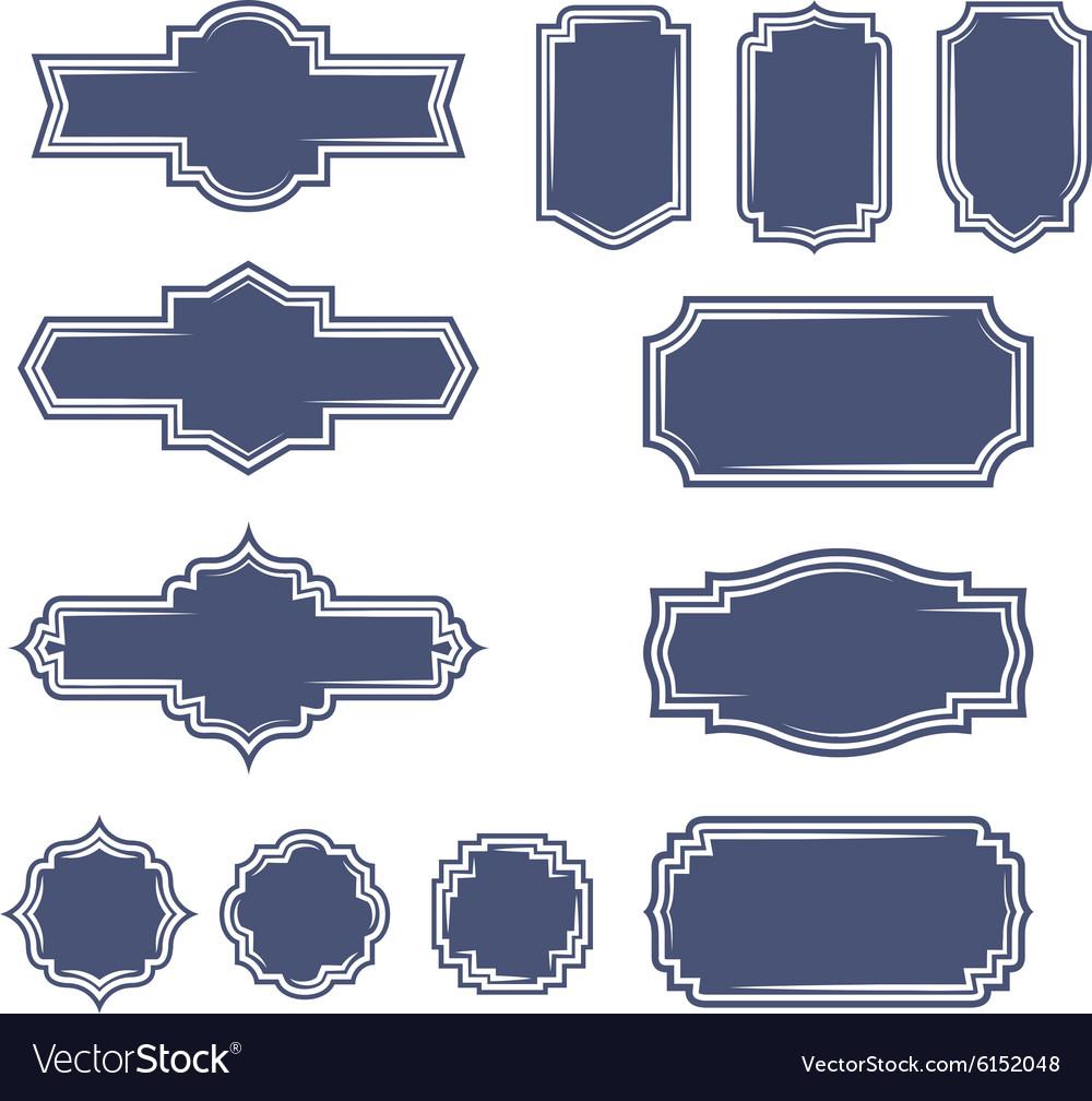 Set of vintage frame badges and labels