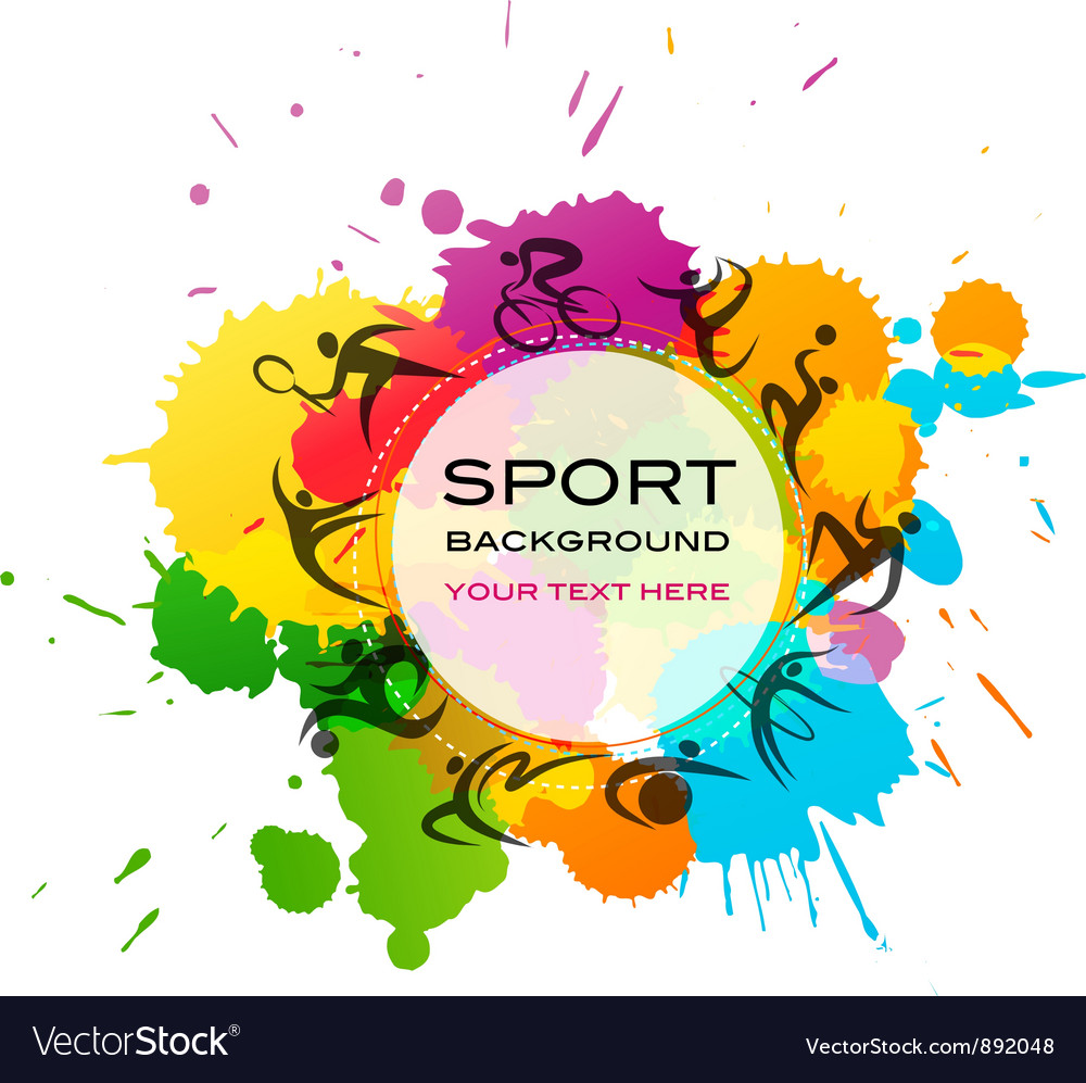 Sport background - colorful vector image