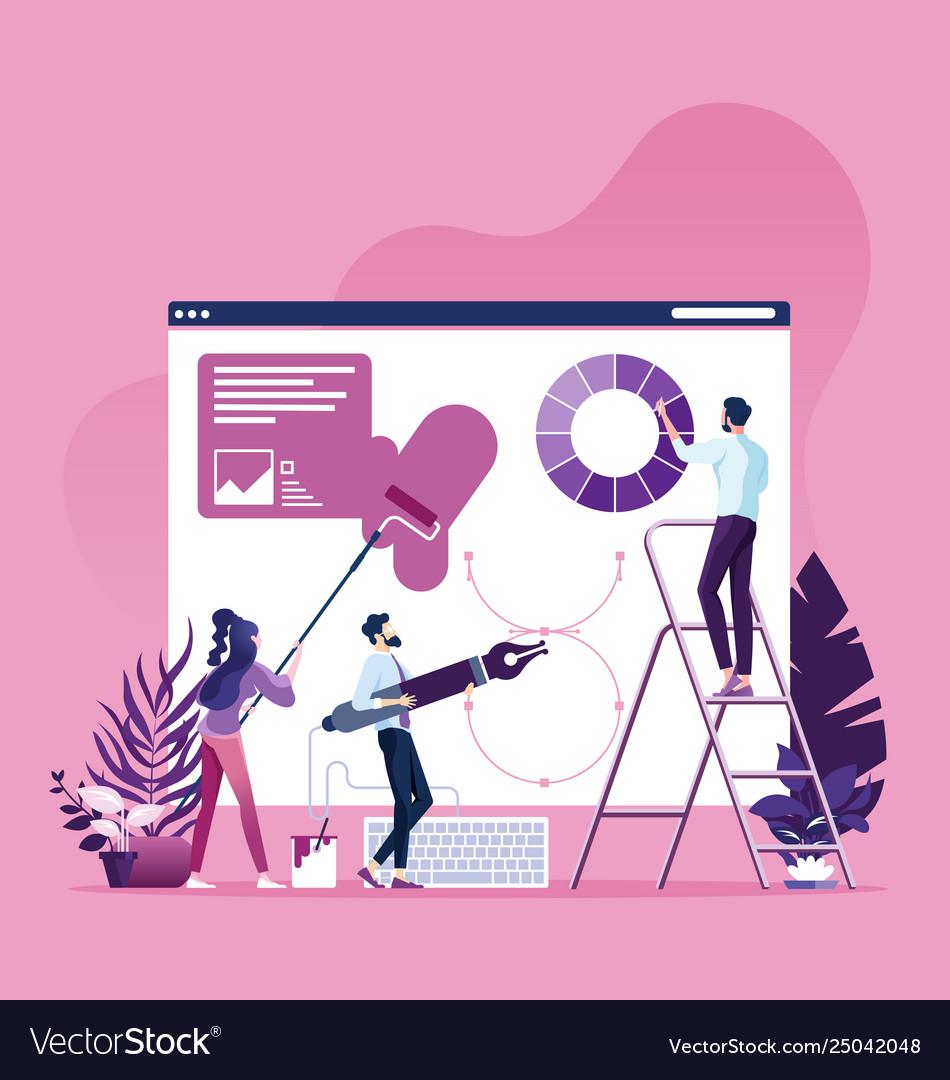 Web design process concept
