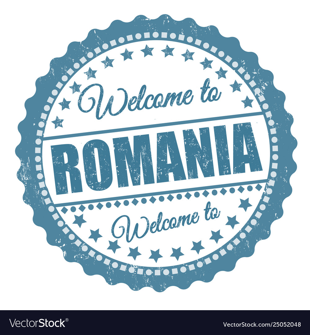 Welcome to romania sign or stamp