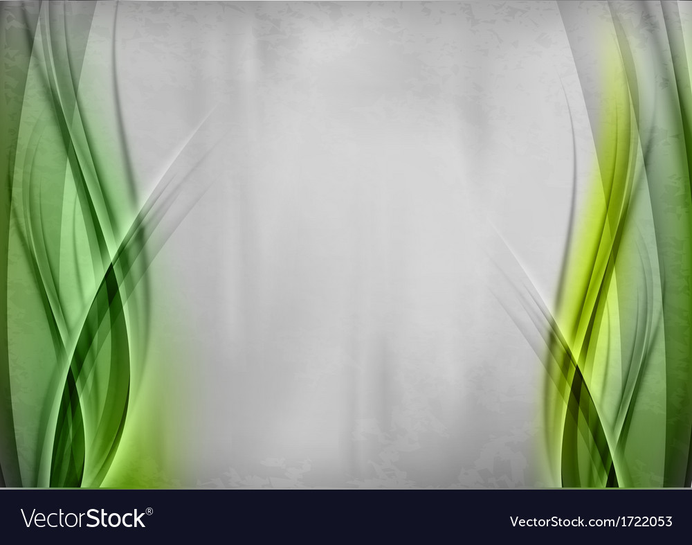 Background two side green vector image