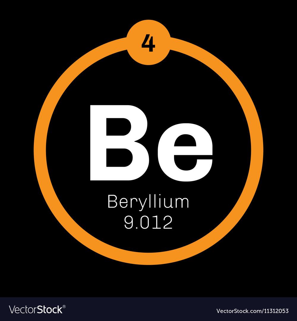 Beryllium Chemical Element Royalty Free Vector Image